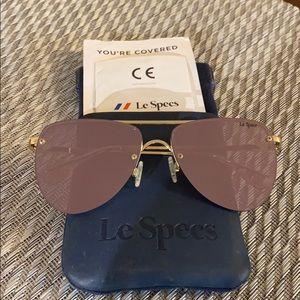 Rose gold lens aviator sunglasses